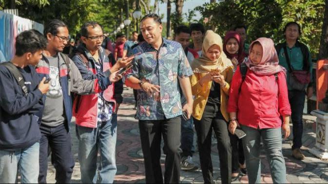 Plt Kepala Dinas Kebersihan dan Ruang Terbuka Hijau (DKRTH) Surabaya, Eri Cahyadi (Foto:Liputan6.com/Dian Kurniawan)