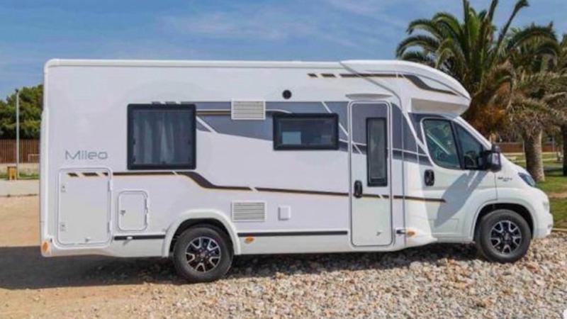 The motor home Samantha Jaelle and her husband have booked for Ms Jaelle last road trip. Source: GoFundMe