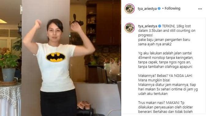 Tya Ariestya mengungkapkan bahwa foto dan videonya dicuri oknum program dan produk diet (Dok.Instagram/@tya_ariestya/https://www.instagram.com/p/CFy5sBkBnbm/Komarudin)