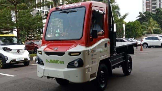 AMMDes yang kini dibuat menggunakan motor listrik sebagai penggeraknya