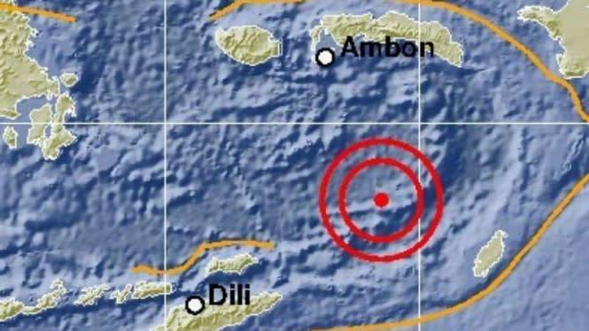 Gempa Magnitudo 5.2 Guncang Laut Banda, Tidak Berpotensi Tsunami