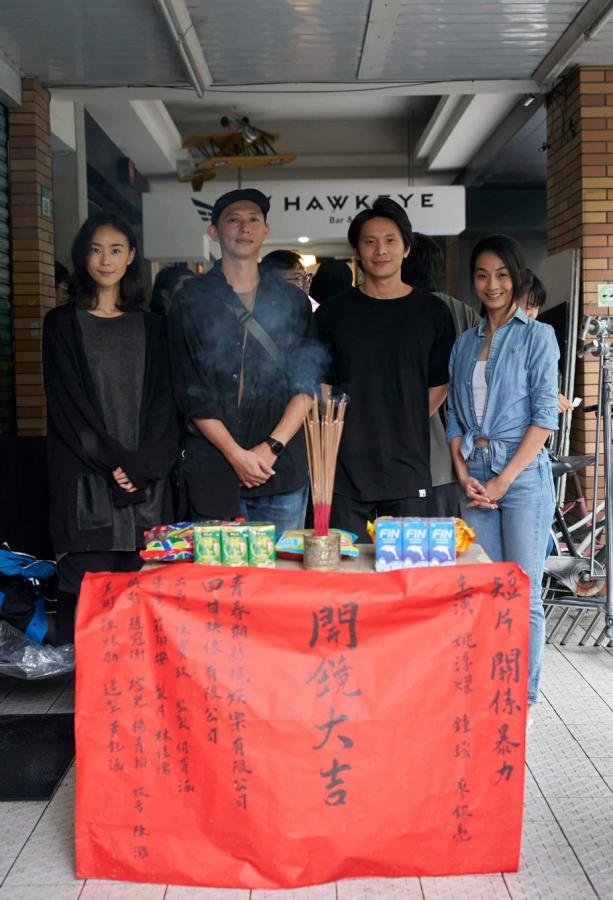 (左起)鍾瑶、導演莊翔安、姚淳耀、陳雪甄。(圖/青春期影視提供)
