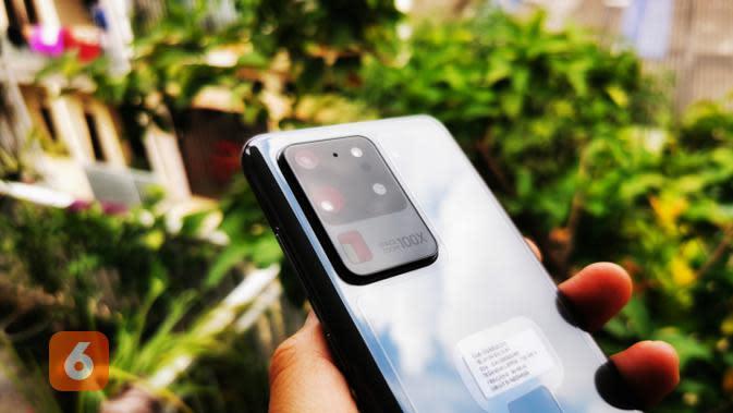 Kamera Belakang Samsung Galaxy S20 Ultra. Liputan6.com/Mochamad Wahyu Hidayat