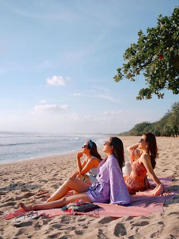Liburan bareng Jessica Milla, Pamela Bowie dan Michelle Joan di Bali (Sumber: Instagram/michellejoan_)