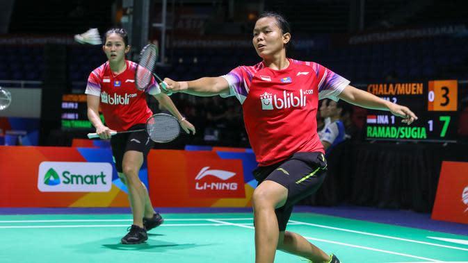 Ganda putri Indonesia, Siti Fadia Silva Ramadhanti/Ribka Sugiarto, di Kejuaraan Bulutangkis Asia Beregu 2020. (PBSI)