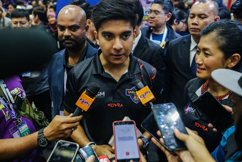 Youth and Sports Minister Syed Saddiq Syed Abdul Rahman speaks during a press conference in Kuala Lumpur November 9, 2019. — Picture by Firdaus Latif