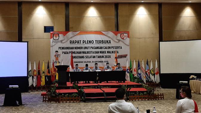 KPU Tangsel Lakukan Pleno Nomor Urut Pasangan Calon Pilkada 2020