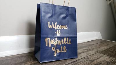 Nash Bash Gift Bag-Nash Bash Party-Personalized Gift Bag-Bachelorette Party Gift Bag-Bridesmaid Bag-Gift Bag-Nashville Bachelorette-Nashty