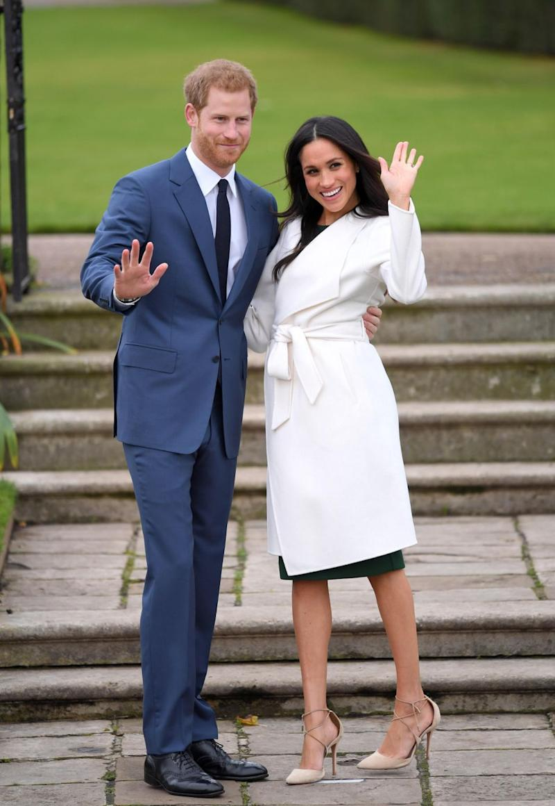 04462876ab6 All eyes were on Meghan as she made her first appearance as Prince Harry s  fiancee.