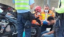 大埔公路電單車與七人車相撞 鐵騎士受傷送院