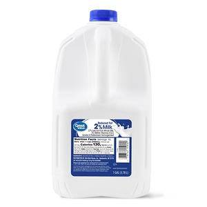 Great Value 2% Reduced-Fat Milk, 128 Fl Oz