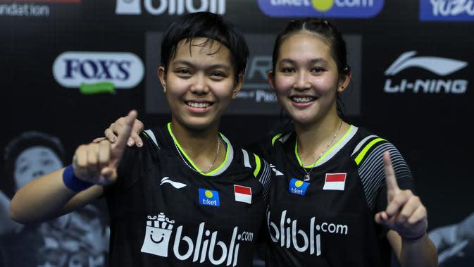 Ribka Sugiarto/Siti Fadia Silva Ramadhanti menjuarai PBSI Home Tournament, Jumat (17/7/2020). (PBSI)