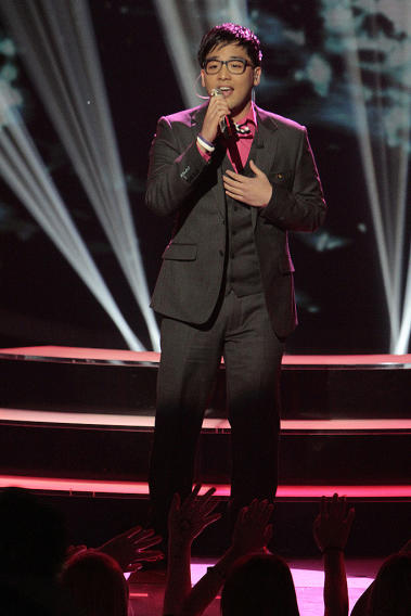 "Heejun Han performs ""Right Here Waiting"" by Richard Marx on ""American Idol."""