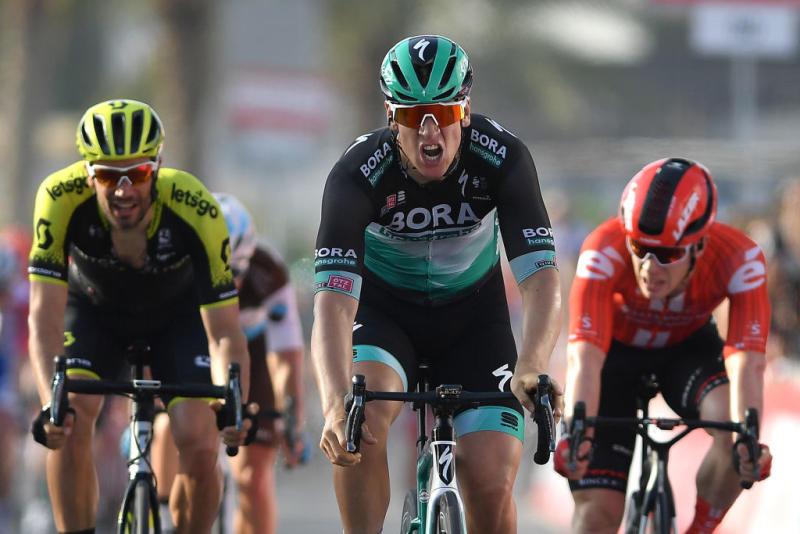 Pascal Ackermann (Bora-Hansgrohe) won stage 1