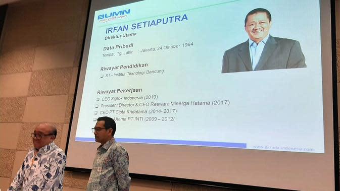 RUPSLB Garuda Indonesia menetapkan Irfan Setiaputra sebagai direktur utama menggantikan Ari Ashkara.