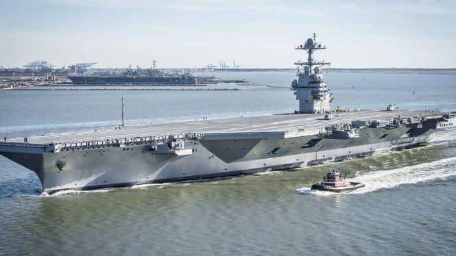2 Kapal Induk AS Muncul di Laut China Selatan, China Tak Berkutik
