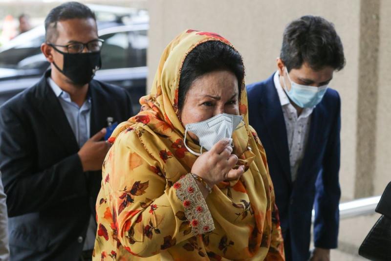 Datin Seri Rosmah Mansor arrives at the Kuala Lumpur High Court September 17, 2020. — Picture by Yusof Mat Isa