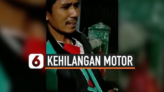 VIDEO: Driver Ojol Kehilangan Motor Usai Ditinggal Salat Maghrib