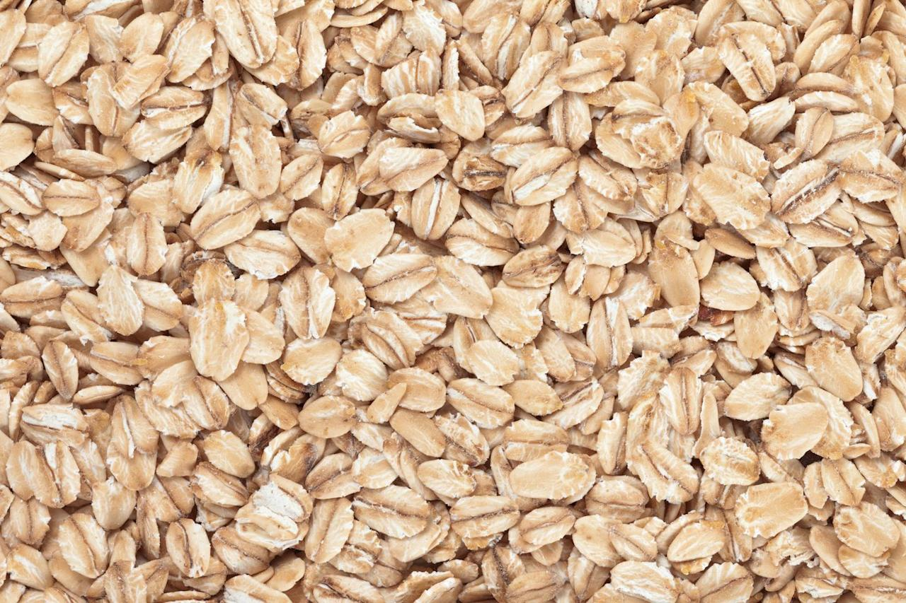 <p>These are richer in fiber than traditional bread crumbs but lacking flavor. Pulverize the oats in a blender or food processor first, then consider adding some dried herbs or seasoning before using in your recipe.</p>