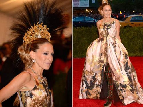 Sarah Jessica Parker attends the Costume Institute Gala for the 'PUNK: Chaos to Couture' exhibition at the Metropolitan Museum of Art on May 6, 2013 in New York City -- Getty Premium