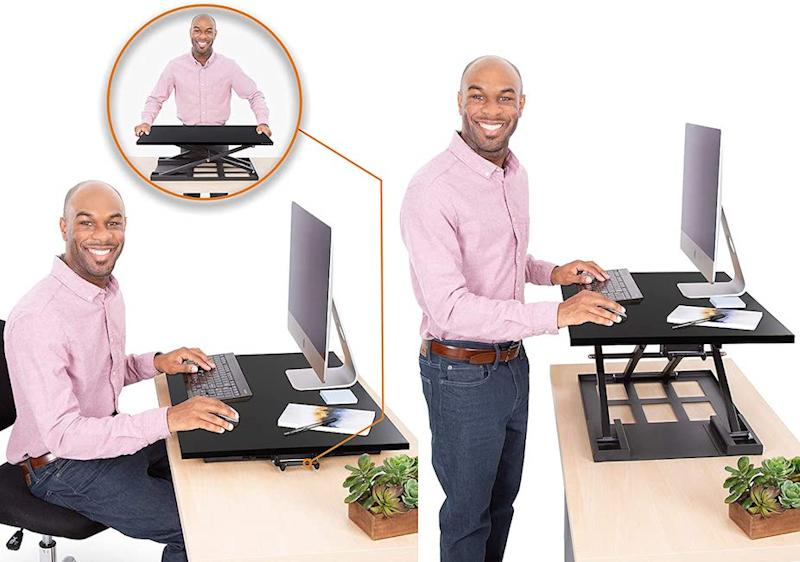 Stand Steady X-Elite Pro Standing Desk Converter. (Photo: Amazon)