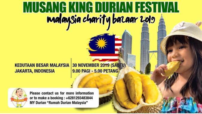Durian Musang King di Malaysia Charity Bazaar 2019. (Dokumentasi Kedutaan Malaysia di Jakarta)