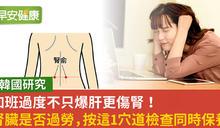 韓研究:加班時間太長也會損害腎臟!按這裡保養