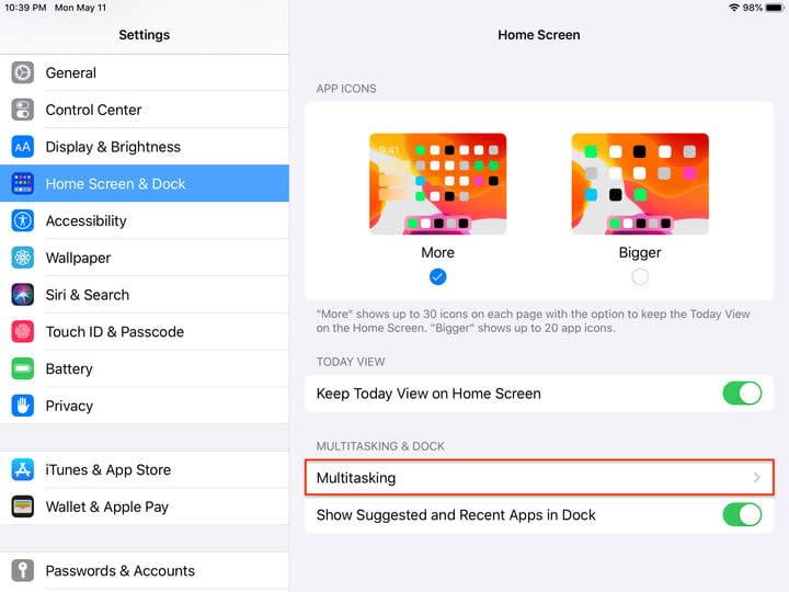 Slideover in iPadOS