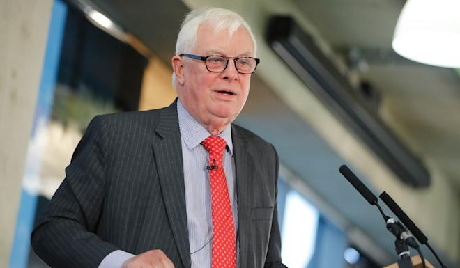 Chris Patten said China had 'betrayed' Hong Kong. Photo: AFP
