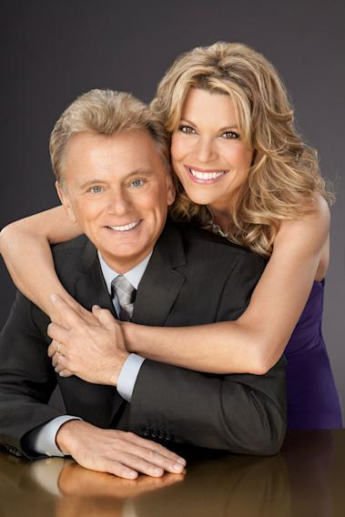 """Wheel of Fortune"" host Pat Sajak and co-host Vanna White."