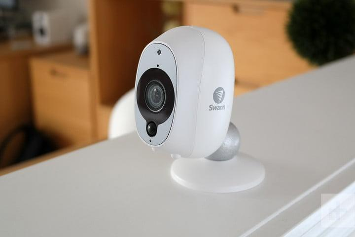 swann smart security camera review facing left