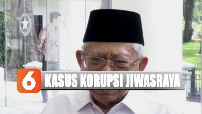 Ma'ruf Amin Dorong Kejagung Tuntaskan Kasus Jiwasraya