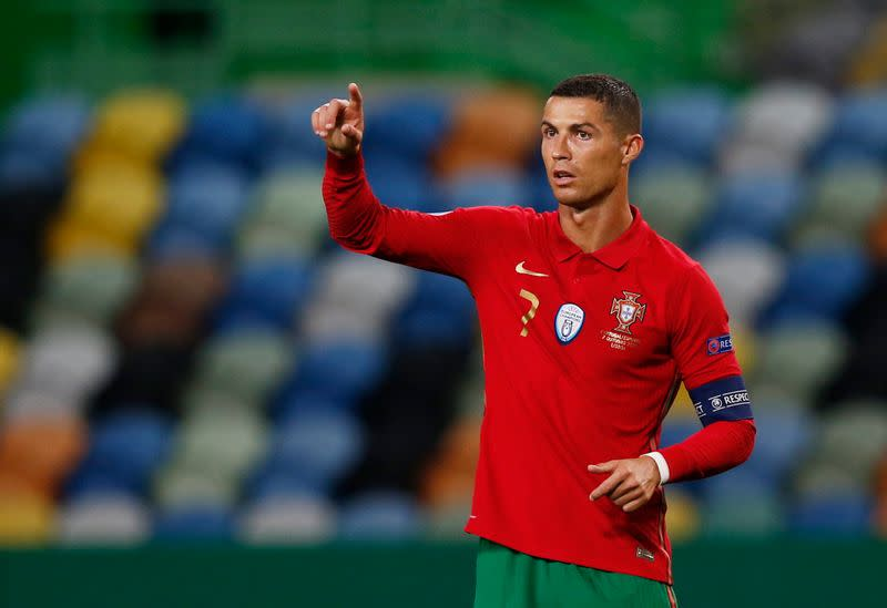 Ronaldo, Renato hit bar as Portugal draw with Spain