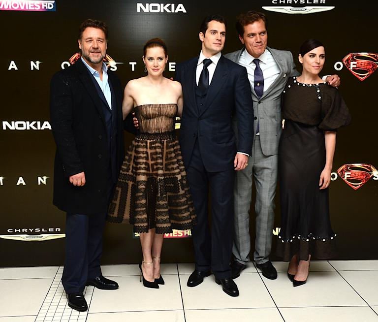 Russell Crowe, Amy Adams, Henry Cavill and Michael Shannon