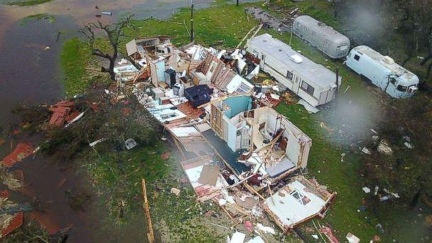 PHOTO: Daylight shows the devastation in Rockport and surrounding areas of southeast Texas, Aug. 26, 2017. (Brian Emfinger/LSM)