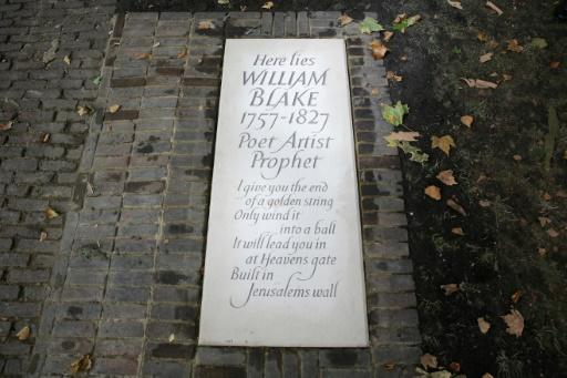 Despite his influence today, Blake died in obscurity in 1827 and was buried in an unmarked common grave in Bunhill Fields, a London cemetery