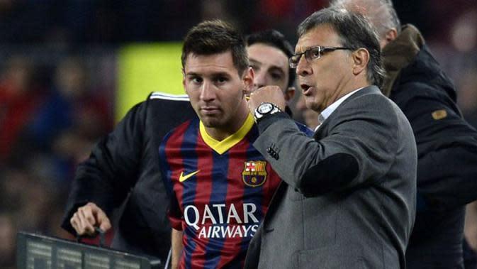 Lionel Messi dan Tata Martino.