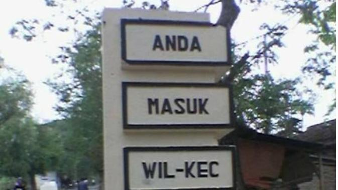 Nama daerah unik (Sumber: Instagram/khofifah.ip)