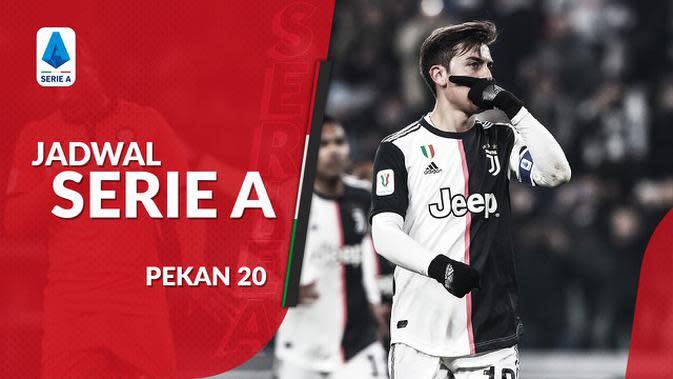 VIDEO: Jadwal Serie A Pekan 20, Juventus Ditantang Parma