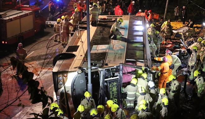 The fatal accident happened in Tai Po at 6.11pm on February 10, 2018. Photo: Felix Wong