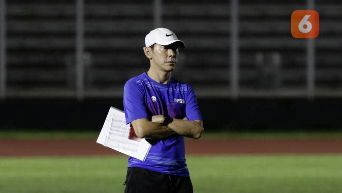 Manajer sekaligus pelatih Timnas Indonesia. Shin Tae-yong. (Bola.com/Yoppy Renato)