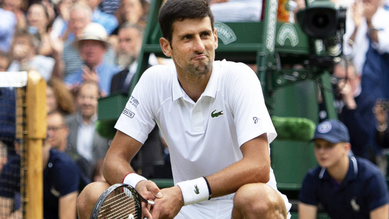 Novak Djokovic's celebration caused a stir after winning Wimbledon. (Photo by Visionhaus/Getty Images)