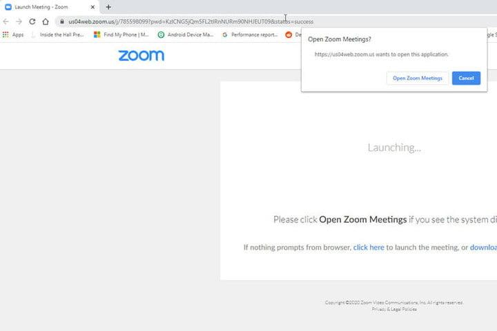 Zoom join meeting open client