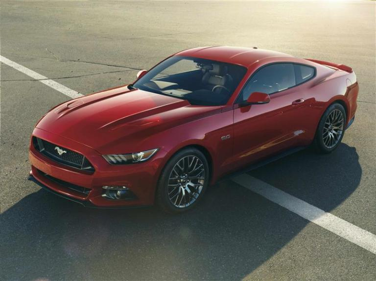 A 2015 model of a Ford Mustang is seen in this undated handout photograph provided by Ford Motor Co