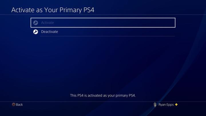 PS4 Gamesharing activate