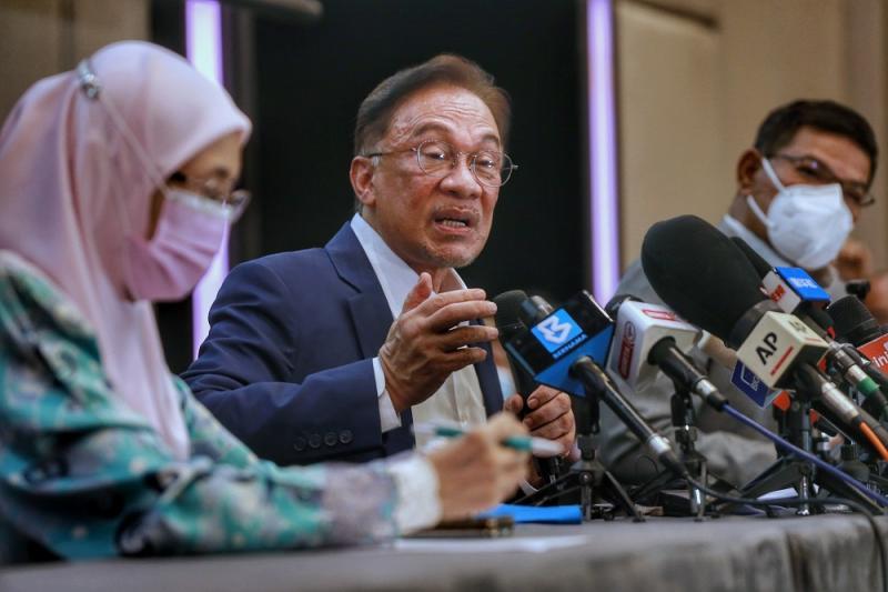 PKR president Datuk Seri Anwar Ibrahim speaks during a press conference in Kuala Lumpur September 23, 2020. — Picture by Ahmad Zamzahuri