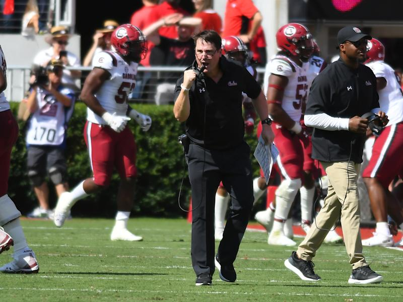South Carolina beat Georgia 20-17 in double overtime on the road. (Photo by Jeffrey Vest/Icon Sportswire via Getty Images)