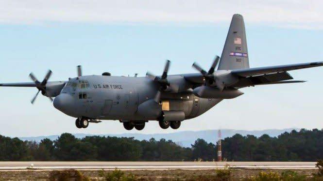 AS: Pesawat C-130 Terbakar di Baghdad Bukan Karena Serangan Musuh