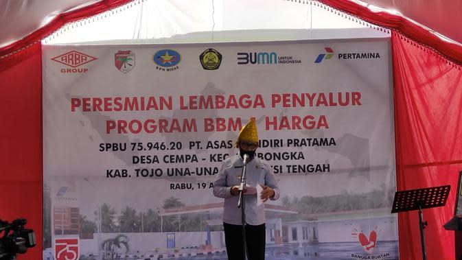 BPH Migas Resmikan BBM Satu Harga di Kabupaten Tojo Una Una Sulawesi Tengah