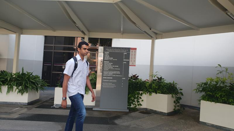 Staff Sergeant Mahendran Selvarajoo, 31, is accused of corruptly obtaining sexual favours form two female suspects under investigation. PHOTO: Koh Wan Ting/Yahoo News Singapore
